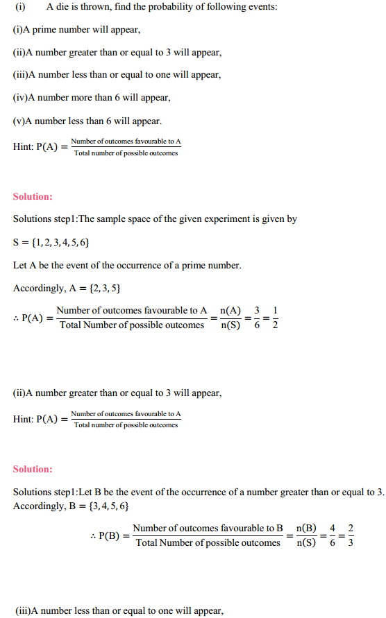 MP Board Class 11th Maths Solutions Chapter 16 Probability Ex 16.3 5