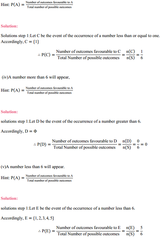 MP Board Class 11th Maths Solutions Chapter 16 Probability Ex 16.3 6