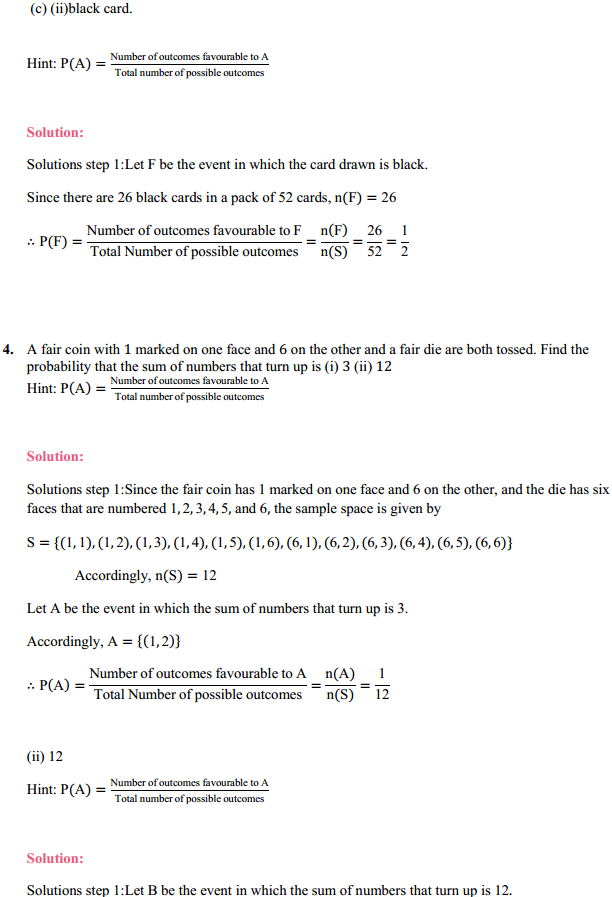MP Board Class 11th Maths Solutions Chapter 16 Probability Ex 16.3 9