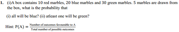 MP Board Class 11th Maths Solutions Chapter 16 Probability Miscellaneous Exercise 1