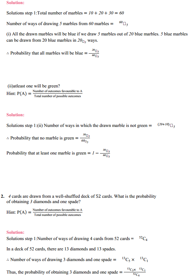 MP Board Class 11th Maths Solutions Chapter 16 Probability Miscellaneous Exercise 2