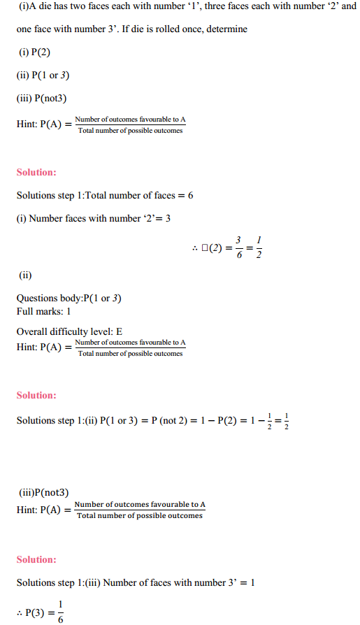 MP Board Class 11th Maths Solutions Chapter 16 Probability Miscellaneous Exercise 3