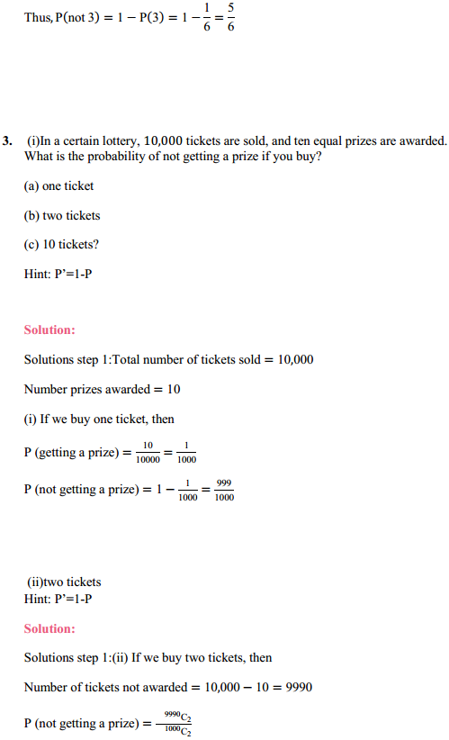MP Board Class 11th Maths Solutions Chapter 16 Probability Miscellaneous Exercise 4