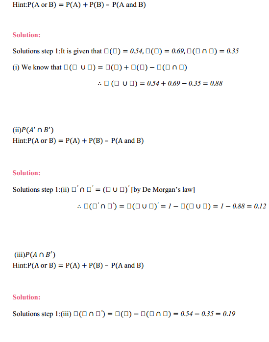 MP Board Class 11th Maths Solutions Chapter 16 Probability Miscellaneous Exercise 8